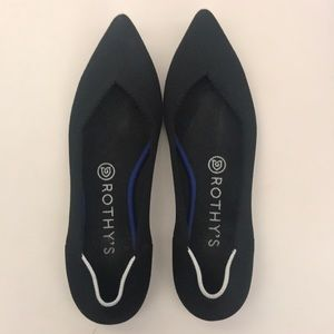 Rothy's Black Pointed Toe Flat size 8